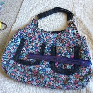 Urban Outfitters Bags - Denim Floral Tote Purse